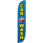 Carwash Flag - Blue Drops and Car