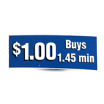 Decal '$1 Buys 1 min 45secs' Blue