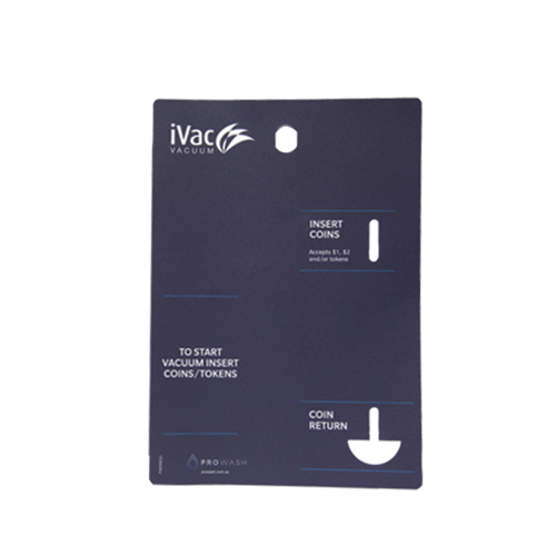 Prowash iVac Coin Box Dark Blue Decal
