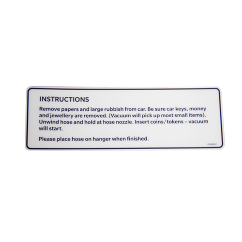 Prowash iVac Vacuum Instruction Dark Blue Decal