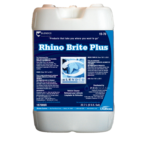 Rhino Brite PLus Automatic Detergent Low pH 6 Gal