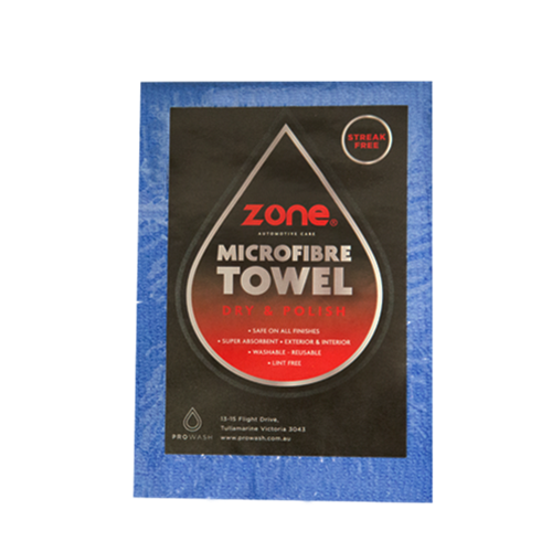 Microfibre Towel Individually Wrapped